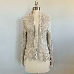 Eileen Fisher Linen Blend Open Knit Cardigan